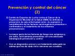 prevenci n y control del c ncer 2