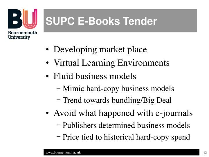 SUPC E-Books Tender