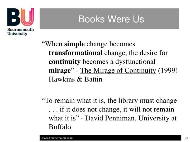 Books Were Us