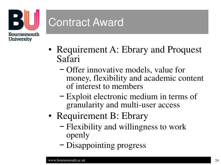 Contract Award