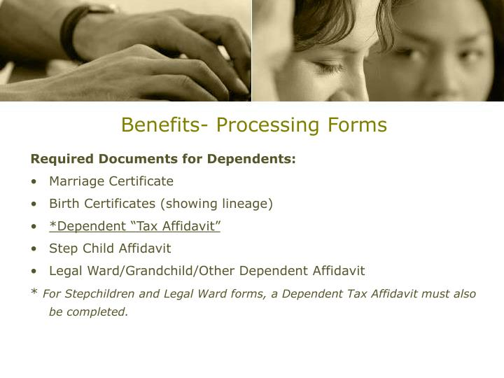 Benefits- Processing Forms