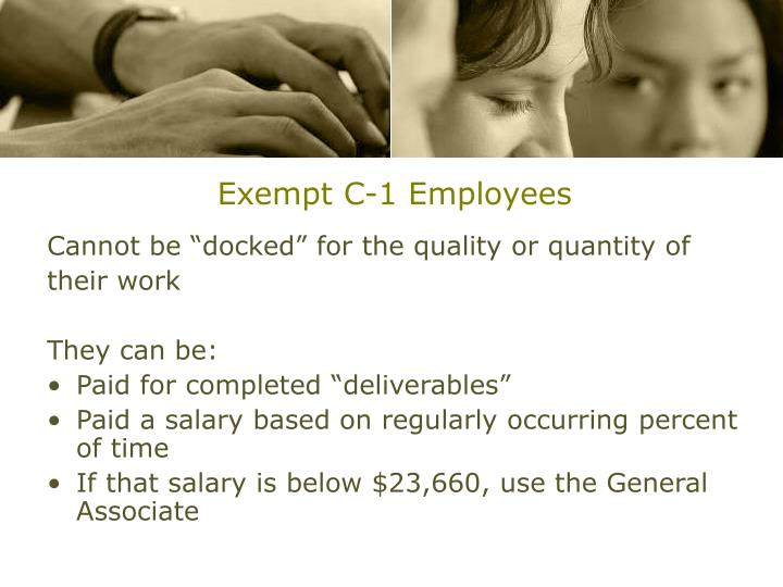 Exempt C-1 Employees