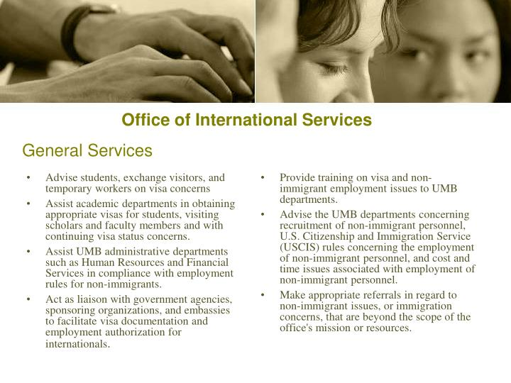 Advise students, exchange visitors, and temporary workers on visa concerns