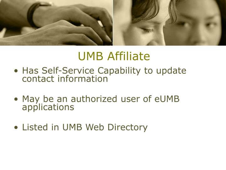 UMB Affiliate