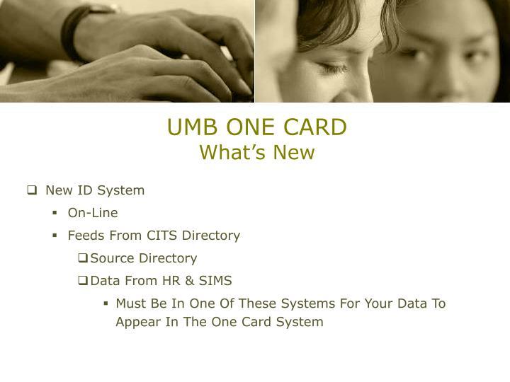UMB ONE CARD