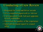 conducting a crew review