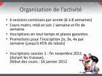 organisation de l activit