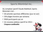 sports montr al inc1