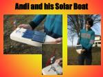 andi and his solar boat