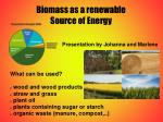 biomass as a renewable source of energy