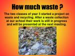 how much waste