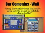 our comenius wall
