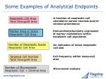 some examples of analytical endpoints