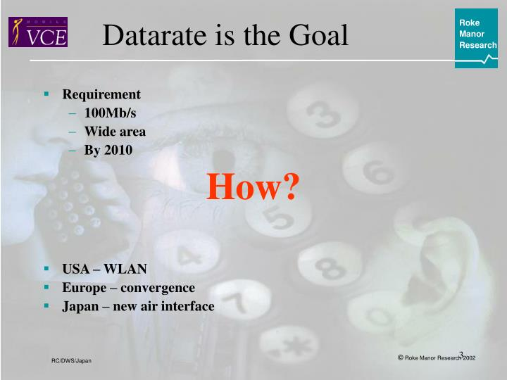 Datarate is the Goal