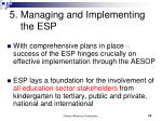 5 managing and implementing the esp