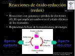reacciones de xido reducci n redox