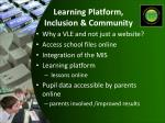 learning platform inclusion community