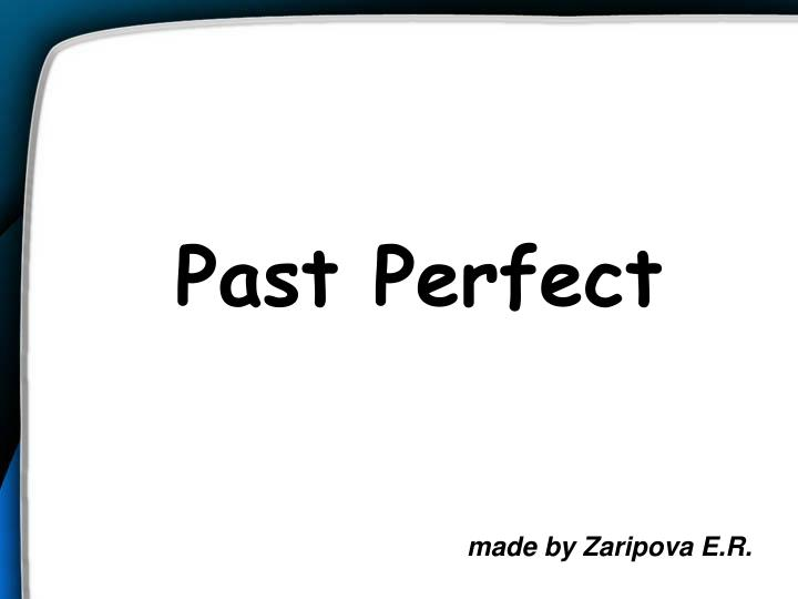 past perfect n.
