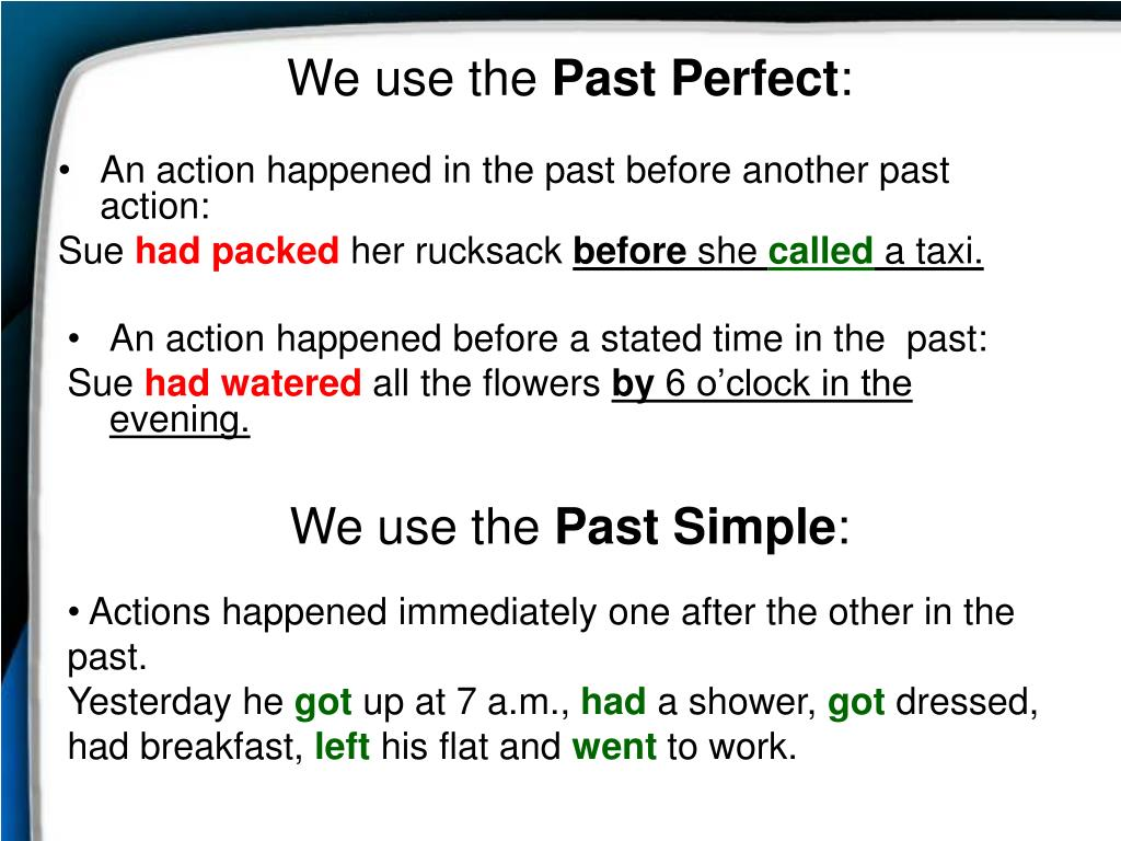 PPT - Past Perfect PowerPoint Presentation - ID:6985603