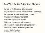 ma web design content planning
