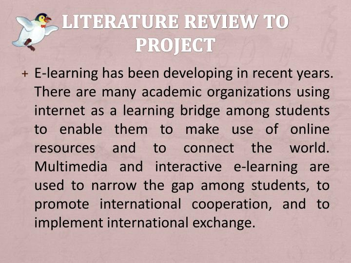Literature review to Project