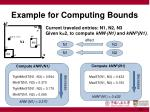 example for computing bounds