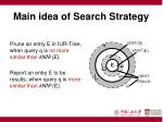 main idea of search strategy