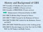 history and background of gbs