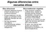 algunas diferencias entre escuelas ticas