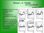 direct g h yields