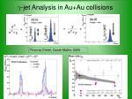 g jet analysis in au au collisions