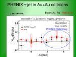 phenix g jet in au au collisions