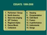 essays 1999 2008