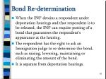 bond re determination