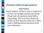 discussion student thought questions