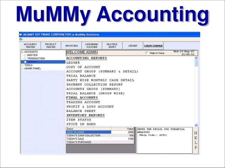 mummy accounting n.
