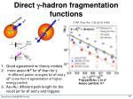 direct g hadron fragmentation functions