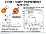 direct g hadron fragmentation functions1