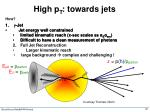 high p t towards jets2