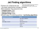 jet finding algorithms