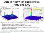 jets in heavy ion collisions at rhic and lhc