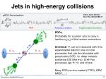 jets in high energy collisions2