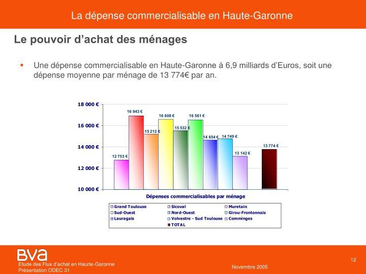 La dépense commercialisable en Haute-Garonne
