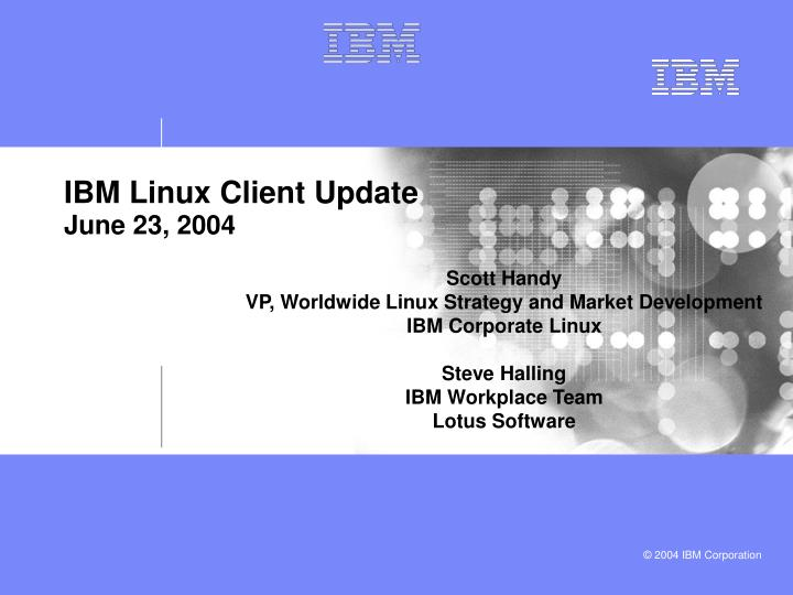 ibm linux client update june 23 2004 n.
