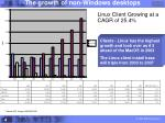 linux client growing at a cagr of 25 4