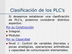 clasificaci n de los plc s