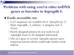 problems with using cox1 or other mtdna genes as barcodes in aspergilli 4