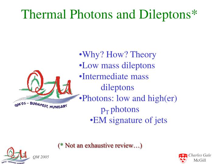thermal photons and dileptons n.