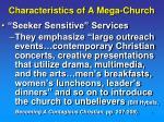 characteristics of a mega church1