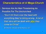 characteristics of a mega church2